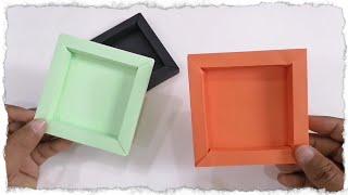 كيف تصنع إطار صور من الورق الملون diy Paper photo frame