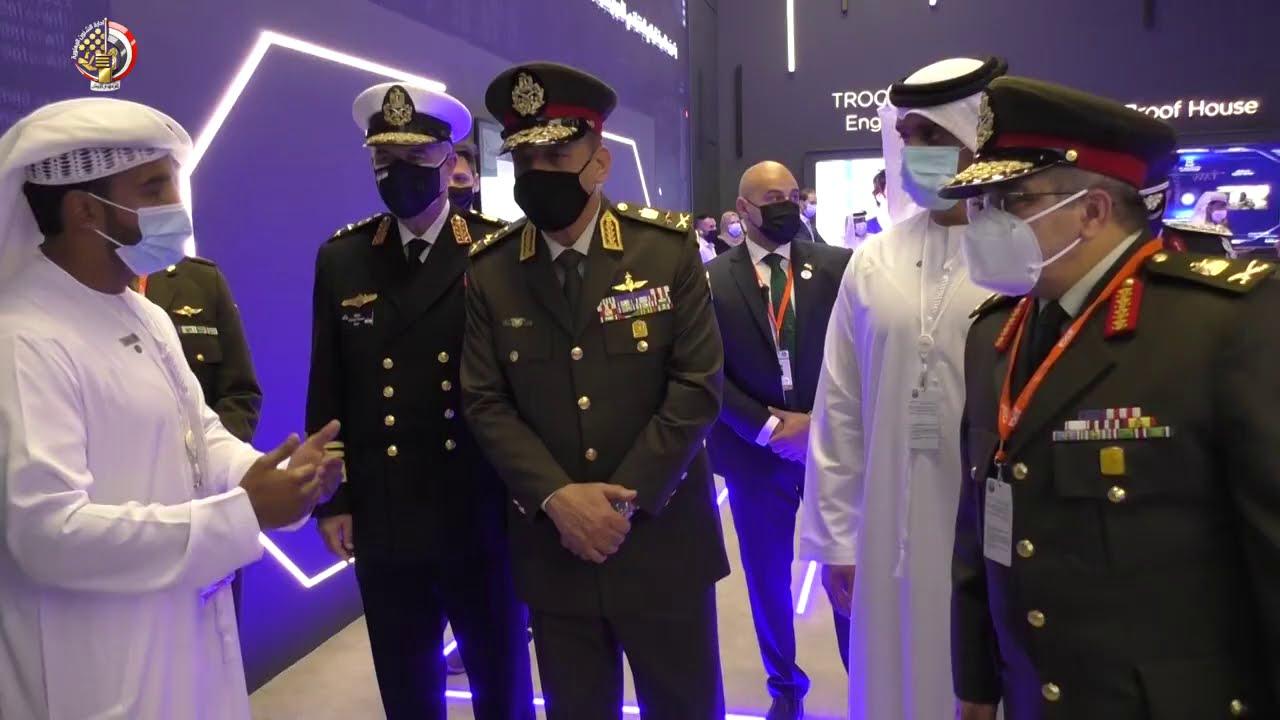 عودة الفريق أول محمد زكى القائد العام للقوات المسلحة  بعد مشاركته فى معرض أيديكس 2021