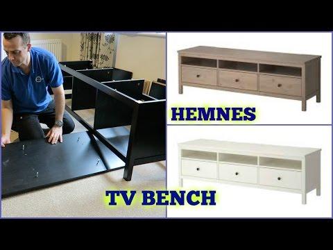 Hemnes Tv Meubel Zwart.Ikea Hemnes Tv Bench Assembly Youtube