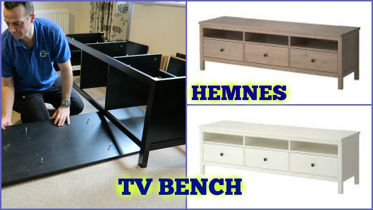 Credenza Ikea Hemnes : Ikea hemnes tv bench assembly youtube