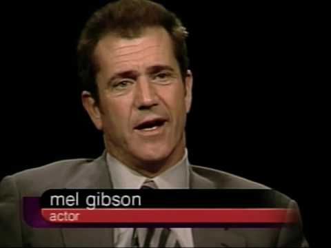 Mel Gibson Job İnterview On Charlie Rose 2000 & Smith Tribute 1
