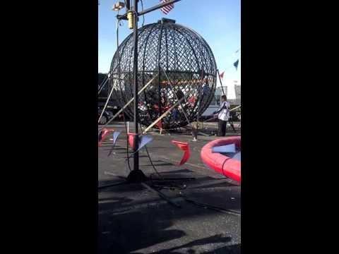 Torres Family Circus Motorcycle Globe Act