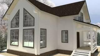 Проекты деревянных домов.Строительство бань,коттеджей из бруса.Смотреть онлайн.МОГУТА(, 2014-03-21T16:24:58.000Z)