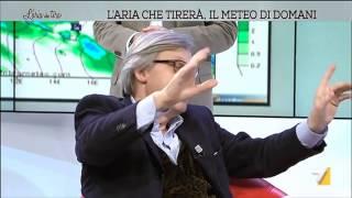 """Avance di Vittorio Sgarbi a Myrta Merlino: """"Devi venire con me alle terme di notte"""""""