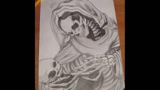 Как нарисовать череп / скелет поэтапно.