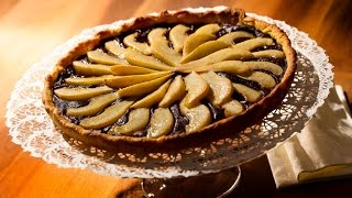 German Choco Pear Cake Recipe (deutsch/english) Htll#71 - Baking Recipe Test Tasting
