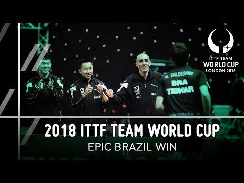 2018 ITTF Team World Cup I Epic Brazil Win