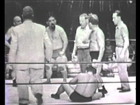Fred Blassie & Warren Bockwinkel vs. Joe Pazandak & Mr. Moto 1950's wrestling