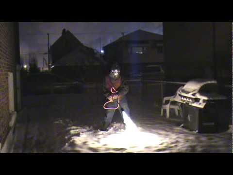 Flamethrower Snow Shovel Youtube