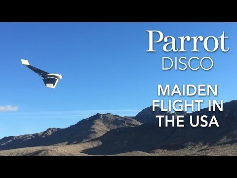 Parrot DISCO - Drone Maiden Flight in the USA #CES2016