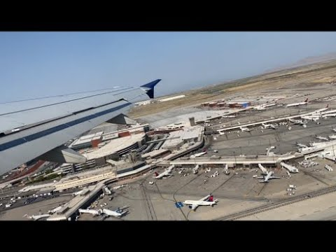 Delta Air Lines A319 Pushback, Taxi, Takeoff from Salt Lake City Airport | Salt Lake City, UT (SLC)