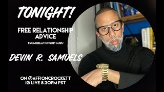 Affion Crockett goes live as Kevin Samuels to give dating advice