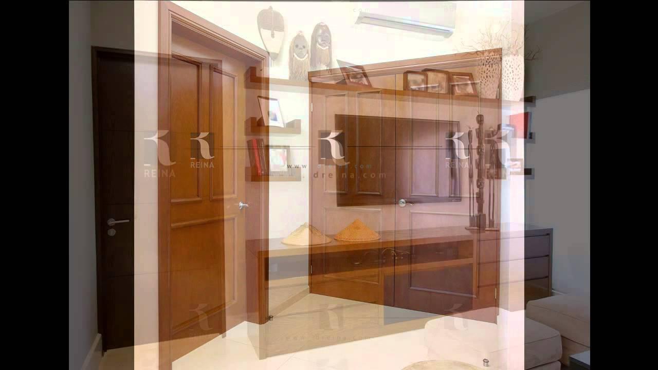 Puerta de interior en madera Dreina - puertas en monterrey - YouTube
