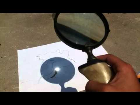 Burning stuff with magnifying glass