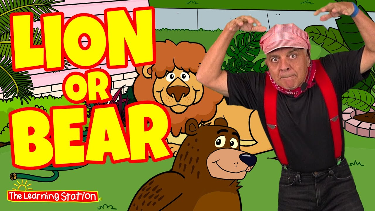 Lion Bear Hunt ♫ Animal Action Song ♫ Brain Breaks ♫ Kids Songs by The Learning Station ♫ Feat. Don