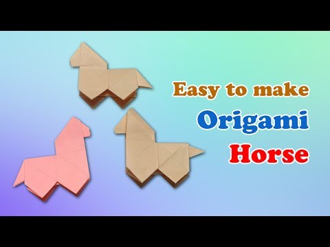 How-to craft an Origami Horse instructions - Fold paper hors
