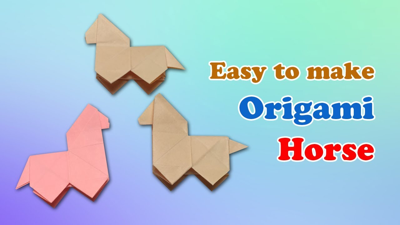 How To Craft An Origami Horse Instructions Fold Paper Horse With