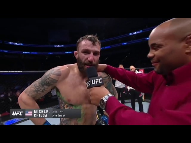 UFC Raleigh: Michael Chiesa Octagon Interview