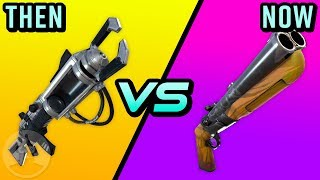 Fortnite Weapons - Then Vs Now - The Evolution of Fortnite Weapons! | The Leaderboard
