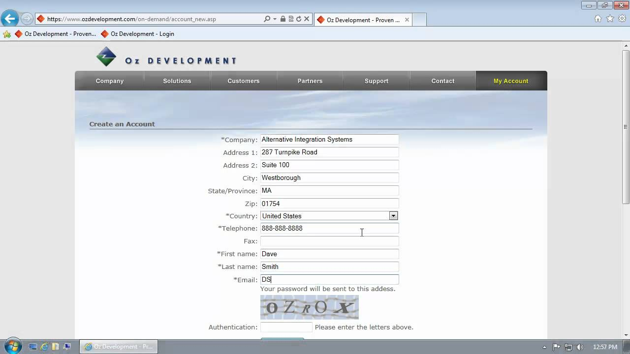 how to create a demo account
