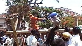 Greasy Pole - New Year 2001 - Ambalantota, Sri Lanka