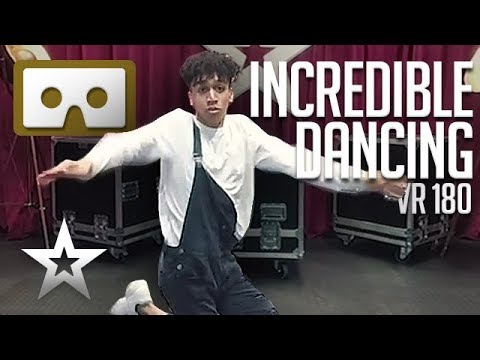 BENDY Street Dancing! Britain's Got Talent's Shameer Rayes Shows Us His Amazing Dance Moves! VR180