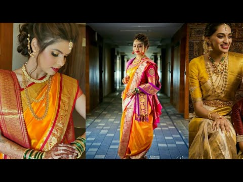 Yellow Paithani Saree For Maharashtrian Bridal//Yellow Collection In Contrast//Only Yellow Saree//