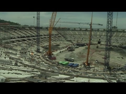 Maracana Stadium construction work continues