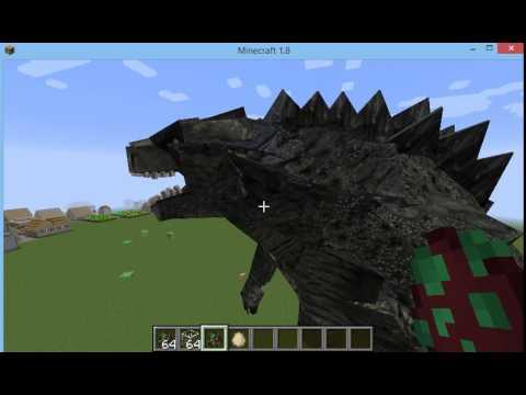 Godzilla 2014 In Minecraft