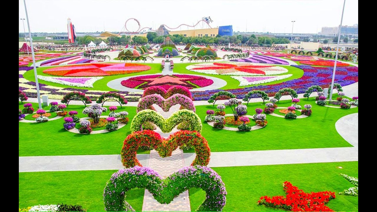 Most Beautiful And Biggest Natural Flower Garden In The World | Dubai  Miracle Gardens