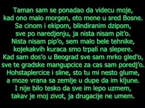 Beogradski Sindikat - Svedok (Saradnik) Tekst