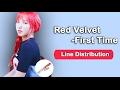 Red Velvet - First Time Line Distribution