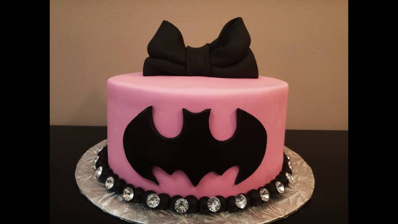 How to Pink Batman Cake Tutorial YouTube