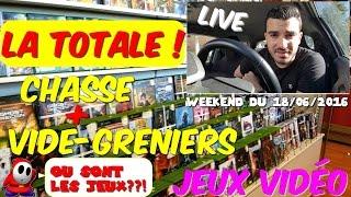 La Chasse aux Jeux vidéo + Live vide grenier: La TOTALE ! - LE PIRE de 2016... - Conkerax