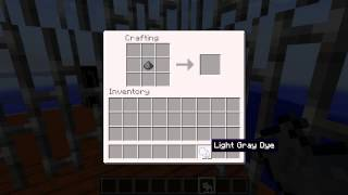 Minecraft Blocks & Items: Light Grey Dye