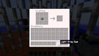 Minecraft Blocks & Items: Light Grey Dye