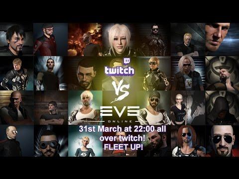 🔴LIVE Twitch VS EVE Biggest EVE Streamer Fleet EVER! - EVE Online Live Presented in 4k