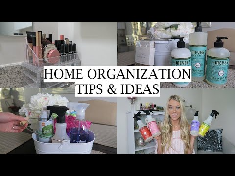 Organization & Decor Tips for the New Year! | Easy Ways to Organize Your Home | Erica Lee