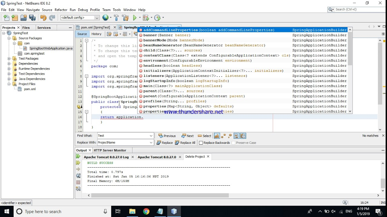 How to create Spring Boot Application in NetBeans IDE