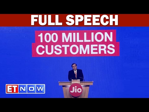 Jio Crosses 100 Million Customers In 170 Days Confirms Mukes