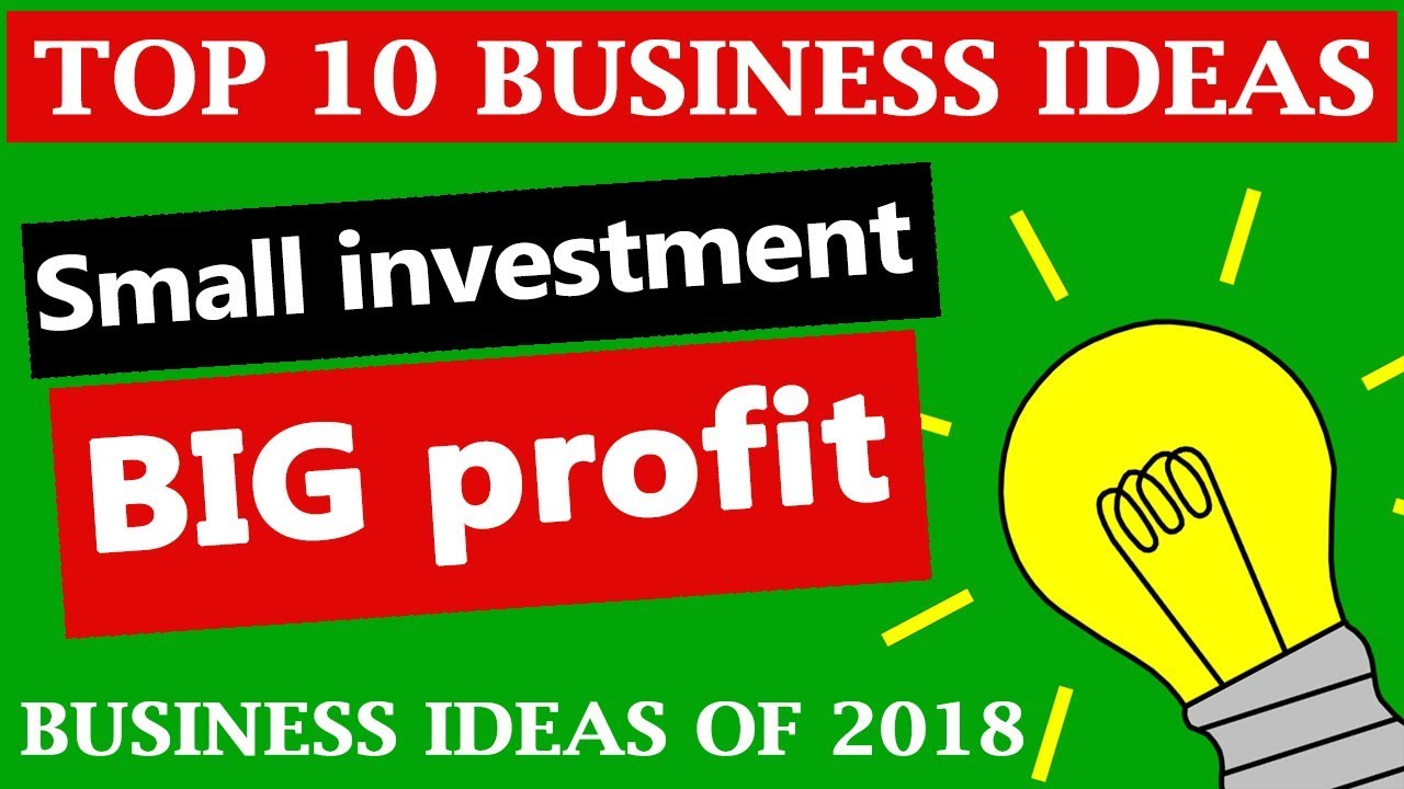 Top 10 Profitable Small Business Ideas in India of 2018   YouTube