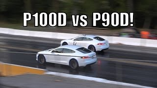 how fast is a tesla p100d at the dragstrip let s find out vs p90d ludicrous