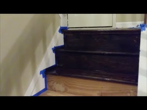 How To Stain Hardwood Stairs - Step By Step Refinish wood stairs