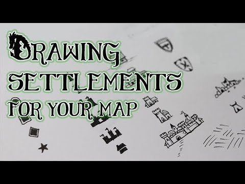 Drawing Settlements - Cities, Towns, etc. For your Map