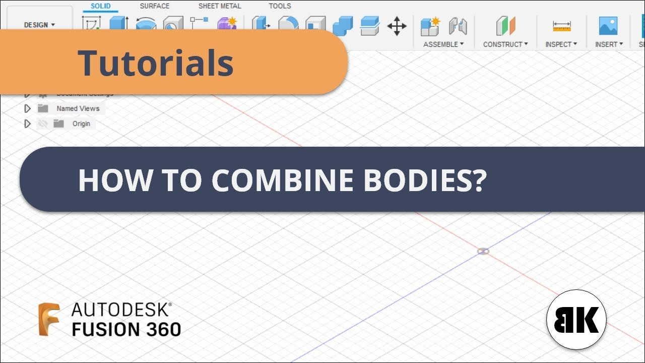 Fusion 360: How to Combine Bodies?