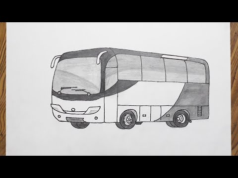 How to draw bus step by step very easy