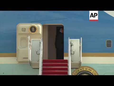 Trump takes 1st trip on Air Force One to Philadelphia