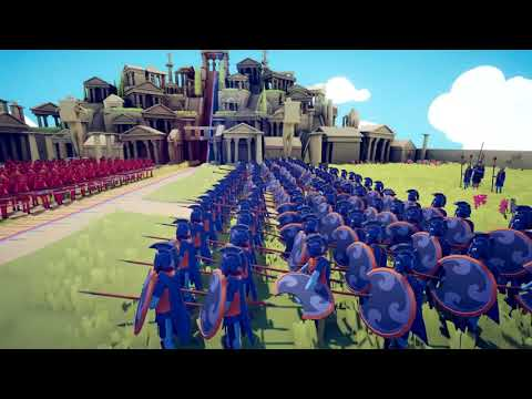 TABS Huge Greek Armies Battle In SLOW MOTION ! Totally Accurate Battle Simulator Gameplay