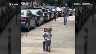 Toddlers hug in now-viral video