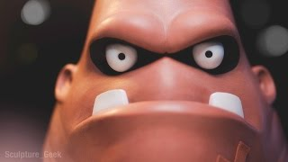 Sculpting King Hippo from Punch Out!! Traditionally - Sculpture_Geek thumbnail